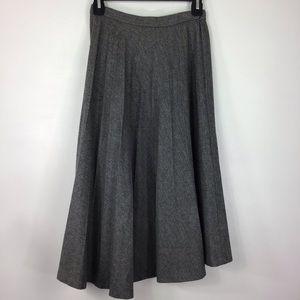 Vintage Evan-Picone Wool Pleated Midi Skirt